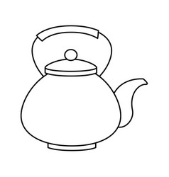 Teapot japanese culture icon vector