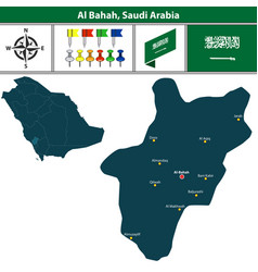 Map of al bahah saudi arabia vector