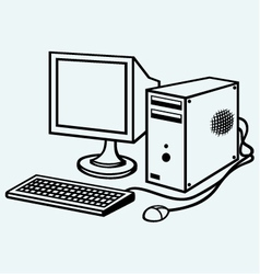 Old computer vector