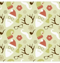 Christmas hipster retro seamless pattern vector
