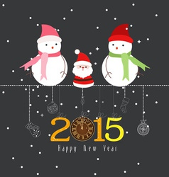 Happy new year the winter vector