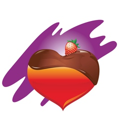 heart-chocolate-and-strawberry vector image