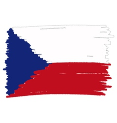 Flag of czech handmade vector