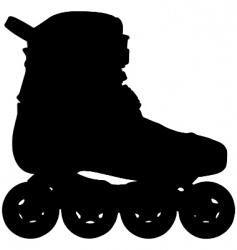 inline skate vector image