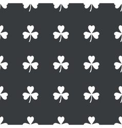 Straight black clover pattern vector