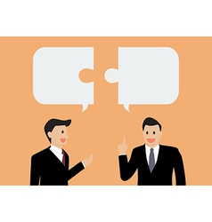 Two businessman in conversation vector