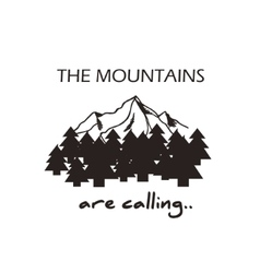 Mountains  logo concept vector