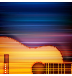 Abstract blur music background with acoustic vector