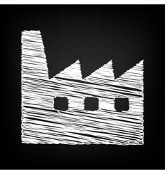 Factory sign scribble effect vector