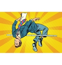 Businessman high jump vector