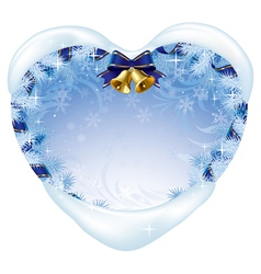 Christmas heart-shaped card vector image