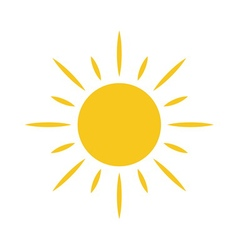 Sun icon light sign sunbeams yellow design element vector