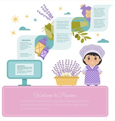 Background provence vector