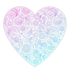 Beautiful Valentines day heart vector image