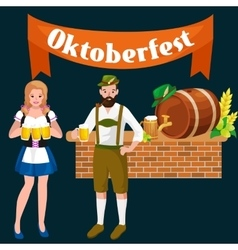 Beer festival oktoberfest celebrations retro style vector
