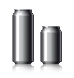 Black shiny aluminum cans vector image vector image