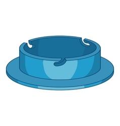 Camera cap icon cartoon style vector