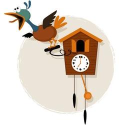 Cartoon cuckoo clock vector image vector image