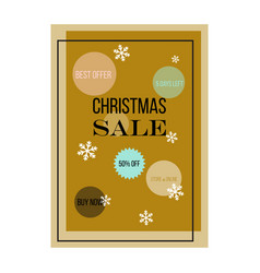 christmas sale poster design vector image vector image