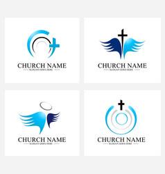 Church logo design vector