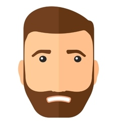 Embarrassed hipster man vector image