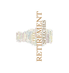 Free retirement speeches text background word vector