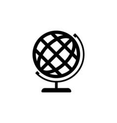 Globe icon flat vector