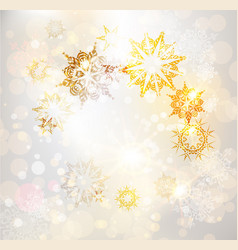 golden holiday background vector image