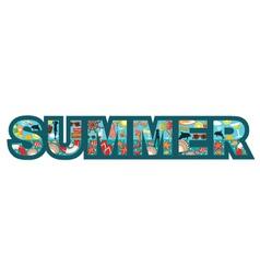 Inscription summer vector