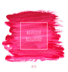 magenta watercolor texture background vector image vector image