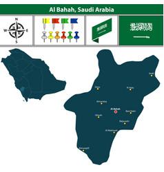 map of al bahah saudi arabia vector image vector image