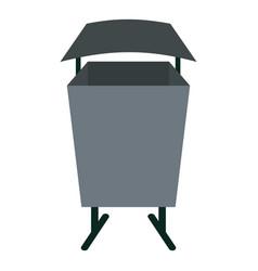 Metal rubbish bin icon isolated vector
