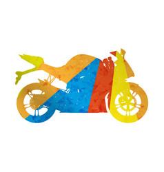 motorcycle grunge silhouette sport bike vector image