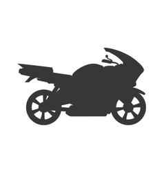 Motorcycle motor motorbike transportation icon vector