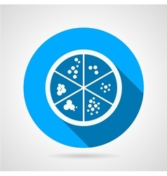 Petri dish round icon vector