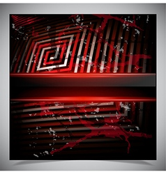 Red scratch grunge background vector image