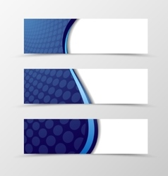 Set of banner wave design vector image vector image