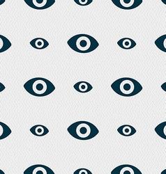 Sixth sense the eye icon sign seamless pattern vector