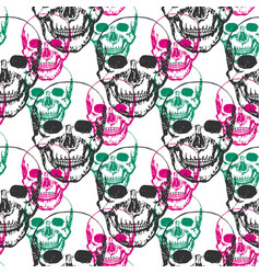Skulls print skull pattern in black pink and vector