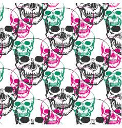 Skulls print skull pattern in black pink and vector