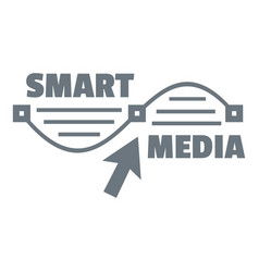 smart media logo simple style vector image