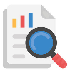 Survey report flat icon vector