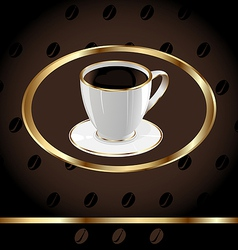Vintage Coffee Background vector image vector image