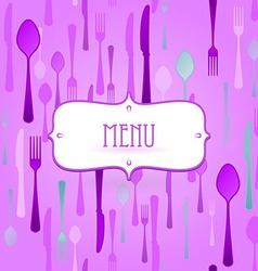 violet restaurant card vector image vector image