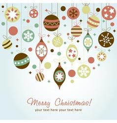 Beautiful design Christmas greeting card vector image