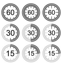 clock face stopwatch black symbol vector image
