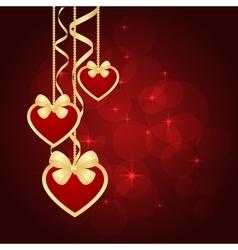 Wonderful Valentines background vector image