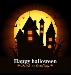 Halloween card art vector