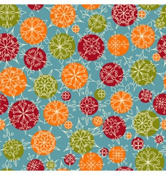 Bright seamless christmas and new year pattern vector
