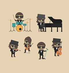 168classical band vector image vector image